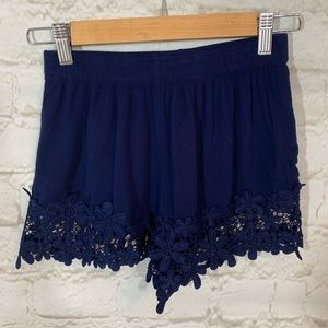 Forever 21 lace detail shorts